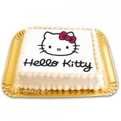 Tort cu poza Hello Kitty