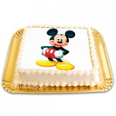 Tort cu poza Mickey Mouse