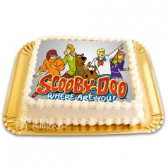 Tort cu poza Scooby Doo
