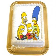 Tort cu poza Simpsons
