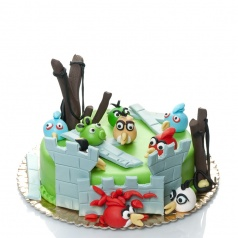Torturi pentru copii Tort Angry Birds